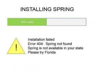 installing spring failed
